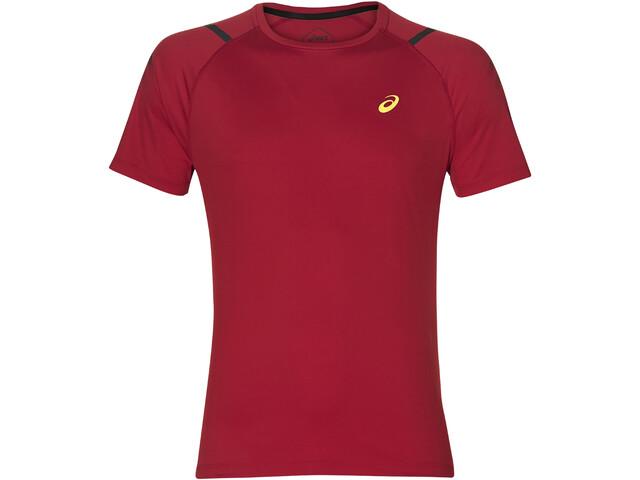 asics Icon Koszulka do biegania z krótkim rękawem Mężczyźni Mugen Pack czerwony
